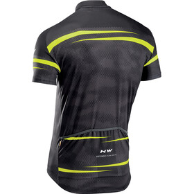 Northwave Origin Short Sleeve Jersey Men black/yellow fluo